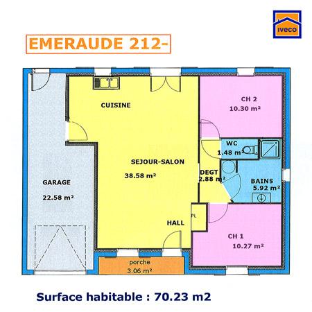 Plans de maisons collection vos mesurs pour votre projet locatif - Plan petite maison 70 m2 ...